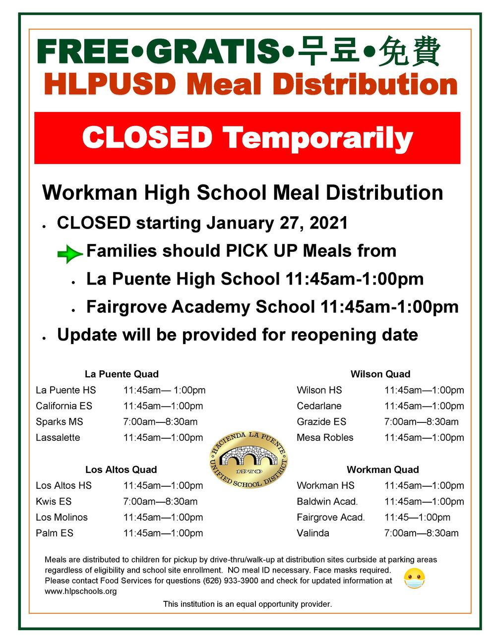 Workman HS closed
