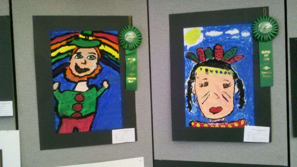 Art Show artworks on display