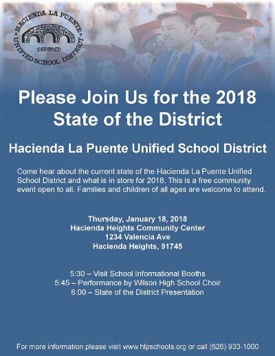 State of the District January 18 2018